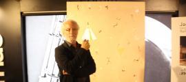 L'artista català, en la inauguració de la mostra, ahir al Fòrum FNAC.