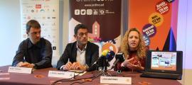 Enric Torres, Josep Àngel Mortés i Lídia Martínez presenten el balanç de l'AUTV 2019.