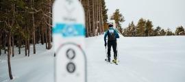 Un esquiador a les pistes de Vallnord-Pal Arinsal.