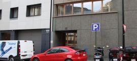 ANA/ Les oficines de Viladomat que han rebut una amenaça de bomba.