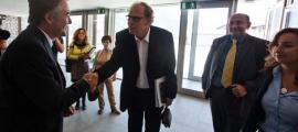 Una delegació de l'ECRI en una anterior visita al país rebuda per l'aleshores síndic Vicenç Mateu.