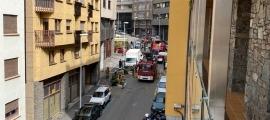 Camions de bombers actuant a la zona.