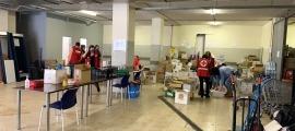 El magatzem de productes de la Creu Roja Andorrana.