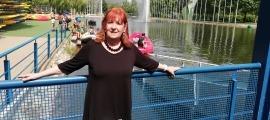 Roser Pubill, l'autora del conte, al Parc Olímpic del Segre.